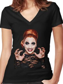 BIANCA DEL RIO Women's Fitted V-Neck T-Shirt