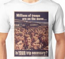 Vintage poster - Is Your Trip Necessary? Unisex T-Shirt
