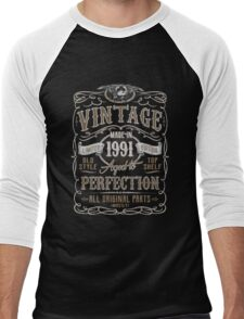 Made In 1991 Birthday Gift Idea Men's Baseball ¾ T-Shirt
