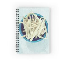 String Beans In Blue Bowl On Table Spiral Notebook