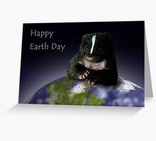 Earth Day Skunk Greeting Card