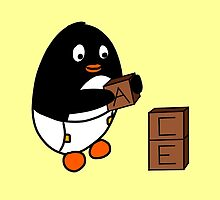 Baby Penguin With Blocks by KakidaLily