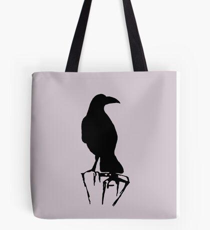 Raven Perch Silhouette Tote Bag