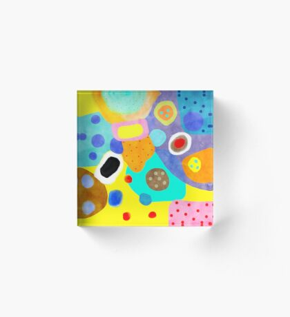 Abstract Unusual weird but wonderful colours Acrylic Block
