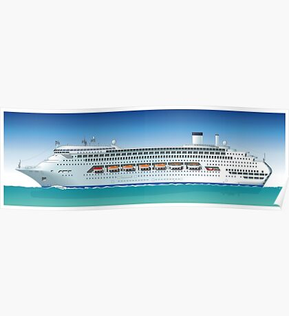 Hi-detailed cruise ship Poster