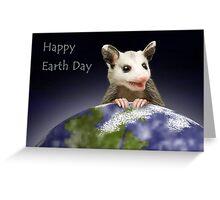Earth Day Opossum Greeting Card