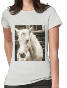 willow pencil sketch Womens Fitted T-Shirt