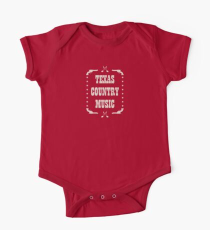 Texas Country Music (white) One Piece - Short Sleeve