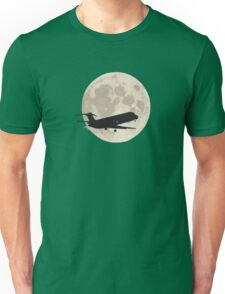 Moon and airplane Unisex T-Shirt