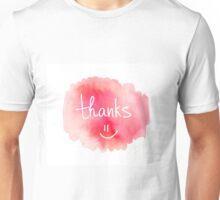 Thank you. Modern brush calligraphy. Handwritten lettering.  Unisex T-Shirt
