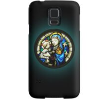 Madonna & Child stained glass window Circle Samsung Galaxy Case/Skin