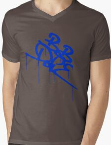 Bob Dope dripping tag logo - Blue Mens V-Neck T-Shirt