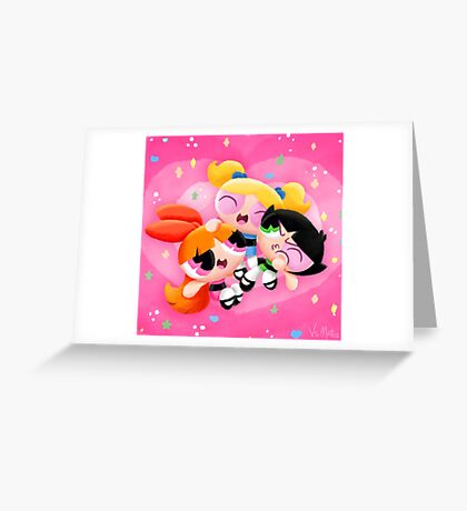 The Powerpuff Girls Greeting Card
