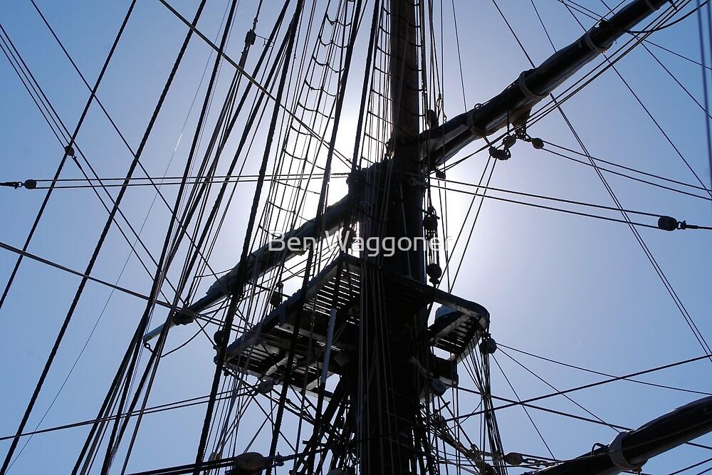HMS Bounty tall ship rigging by Ben Waggoner