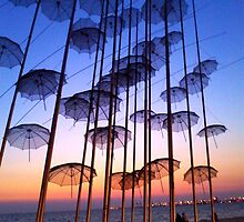 Floating Umbrellas by scardesign11