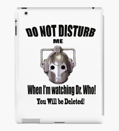 Do Not Disturb! iPad Case/Skin