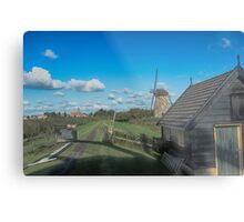 Dutch Clouds at Kinderdijk Nederlands (UNESCO Site) Metal Print