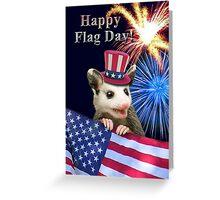 Flag Day Opossum Greeting Card