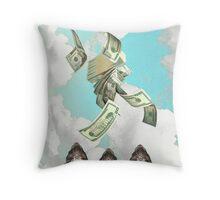 Mo' money ferret Throw Pillow
