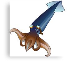 Flying Squid with Goggles  Canvas Print