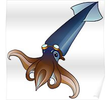 Flying Squid with Goggles  Poster