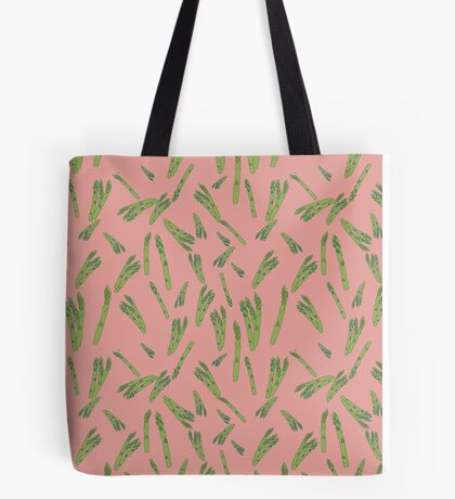 Asparagus on pink Tote Bag