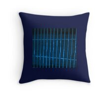 GRATE BLUE Throw Pillow