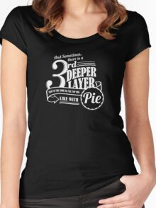 Dr. Horrible's Pie Quote Women's Fitted Scoop T-Shirt
