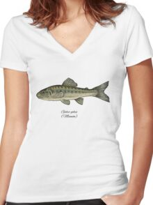 Minnow. Women's Fitted V-Neck T-Shirt