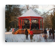 12 carols in the bandstand Canvas Print