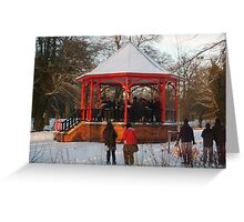 12 carols in the bandstand Greeting Card