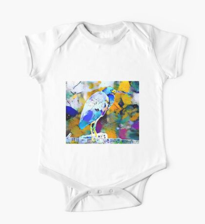 Great Blue Heron Abstract One Piece - Short Sleeve