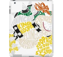 Bowser Typography iPad Case/Skin