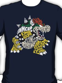 Bowser Typography T-Shirt