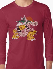 Bowser Typography Long Sleeve T-Shirt