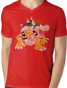Bowser Typography Mens V-Neck T-Shirt