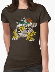Bowser Typography Womens Fitted T-Shirt