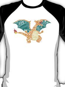 Charizard Typography T-Shirt