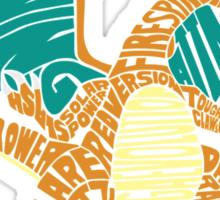 Charizard Typography Sticker