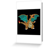 Charizard Typography Greeting Card