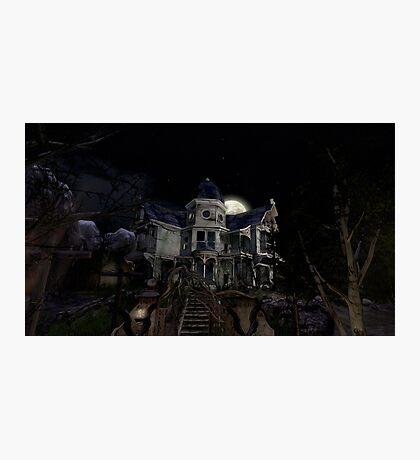 Halloween Haunted House Photographic Print