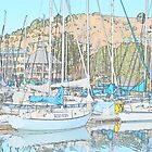 Sail Boats Reflections by HanieBCreations