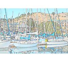 Sail Boats Reflections Photographic Print
