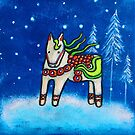 Dala Horses in Winter, Dala Horse I by Juli Cady Ryan