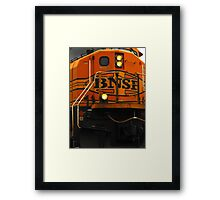 Now that is a close-up...heavy metal shuffle Framed Print