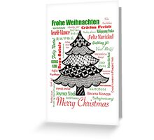 Worldwide Merry Christmas Greeting Card