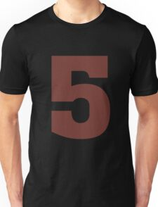 Big Maroon Number 5 Five  Unisex T-Shirt