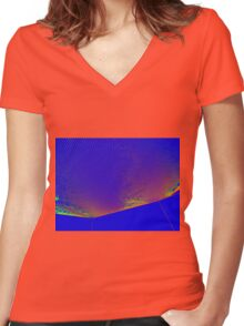MOON PROBE Women's Fitted V-Neck T-Shirt