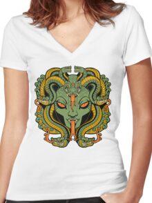 Medusa Women's Fitted V-Neck T-Shirt