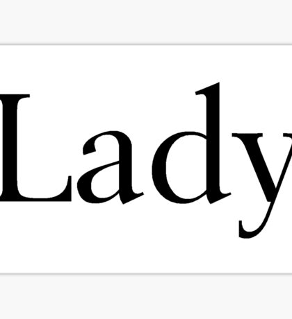 Lady Sticker